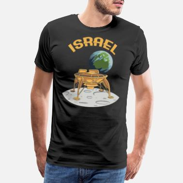 Allowed Israel 2019 moon historic space rocket - Men's Premium T-Shirt