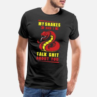 Corn Funny My Snakes And I Talk About You - Men's Premium T-Shirt