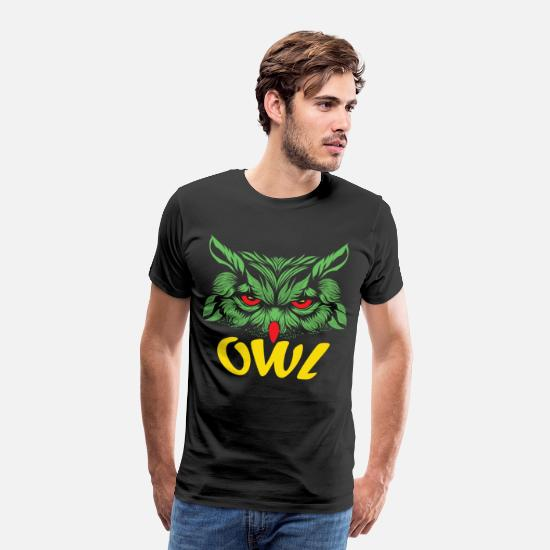 Nature Lovers T-Shirts - Cool Owl for Wild Animal Lovers or Nature Lovers - Men's Premium T-Shirt black