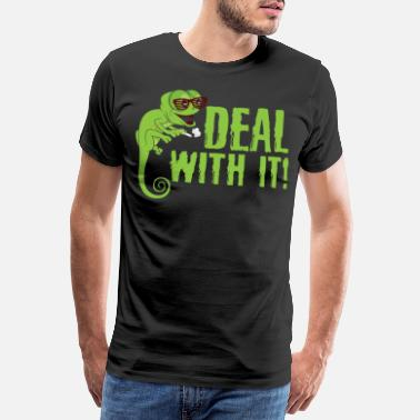 Frog Cute Deal With It Smoking Lizard Owners gift - Men's Premium T-Shirt