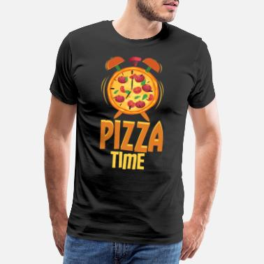 Clock Pizza Alarm Clock Pizza Time - Men's Premium T-Shirt