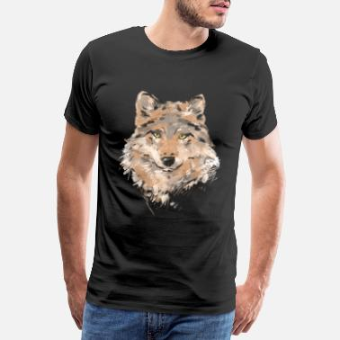 Portrait Wolf portrait wolves wolf lovers - Men's Premium T-Shirt