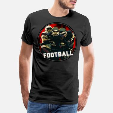 Awesome Footballer Cool Football Season Red Art Graphic Youth Helmet - Men's Premium T-Shirt