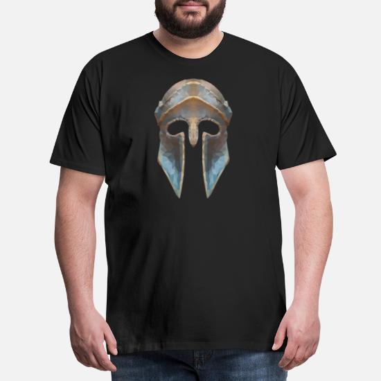 5d0a8ac76d40 casco Gladiador efecto de baja polígono Camiseta premium hombre ...