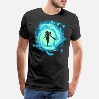 Dimension Portal Dimension Time Travel Fighter Warrior Woman - Premium T-skjorte for menn
