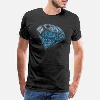 Bling Diamond Gem Gemstone Bling Carat Gift - Premium-T-shirt herr