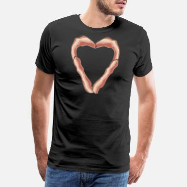 Single Taken Bacon heart bacon breakfast pig gift barbecue - Men's Premium T-Shirt