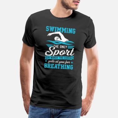 Swimming Coach Funny Swim Coach Men Women Kids Gift Tshirt - Men's Premium T-Shirt