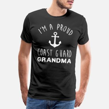 Cooling I'm A Proud Coast Guard Grandmother Grandma Tshirt - Men's Premium T-Shirt