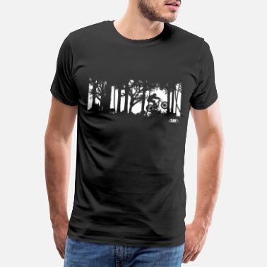Mountain Bike werewolf - Men's Premium T-Shirt
