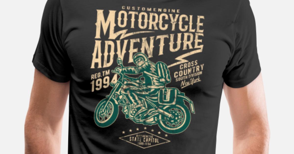 f198abedc94b MOTORCYCLE ADVENTURE - MOTORCYCLE BIKER SHIRT MOTIV Men's Premium T-Shirt |  Spreadshirt