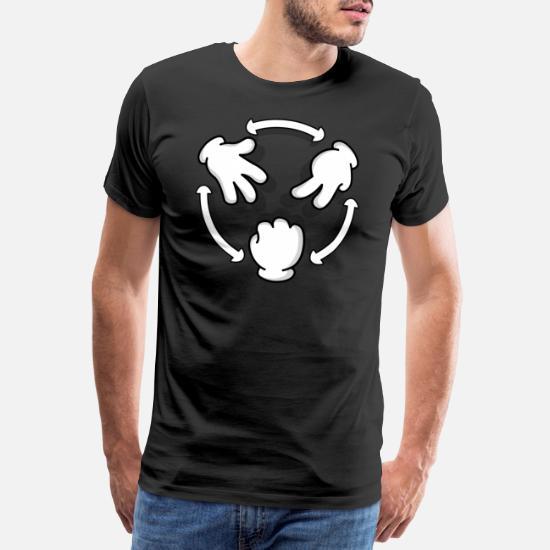 61df7111 Rock Paper Scissor - Gift Scissors Stone Paper Men's Premium T-Shirt ...