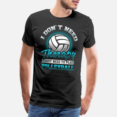 Terapi Volleyball - Therapy - Premium T-shirt herr