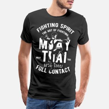 Thai Boxing Muay Thai Martial Arts Thai Boxing Gift - Premium T-skjorte for menn