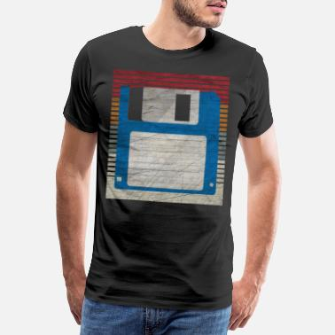 Fun Computer Nerd Floppy Computer Science Retro Gift - Men's Premium T-Shirt