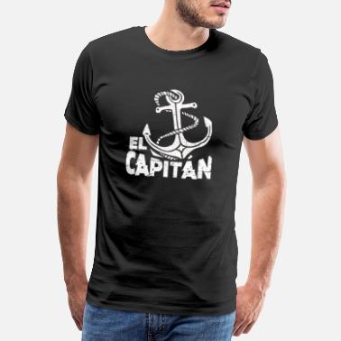 Hipster Anchor Captain anchor hipster boat cruise gift - Men's Premium T-Shirt