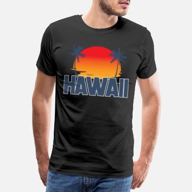 Honolulu Hawaii Bundesstaat | USA Amerika Staat Palmen Hula - Männer Premium T-Shirt