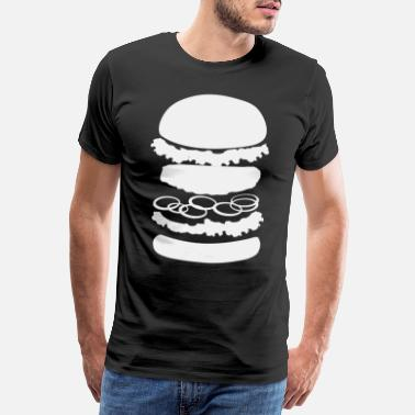 Alternativ Burger | Burgers Cheeseburger Hamburger Patty Bun - Premium T-skjorte for menn