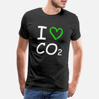 Asta I Love Co2 Anti Green Climate Change Against FCK GRN - Men's Premium T-Shirt