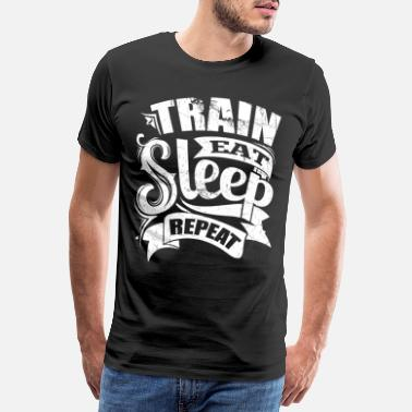 Sports Train Sports Gym Quotes - Men's Premium T-Shirt