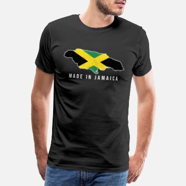 Jalkapallo Jamaica Made in Tshirt syntynyt Country Soccer Fla - Miesten premium t-paita