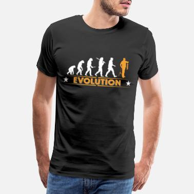 Fiskare Fisk evolution - orange/vit - Premium T-shirt herr