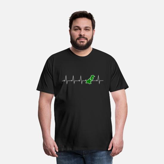 Jeg elsker Pakistan hjerterytme Premium T skjorte for menn
