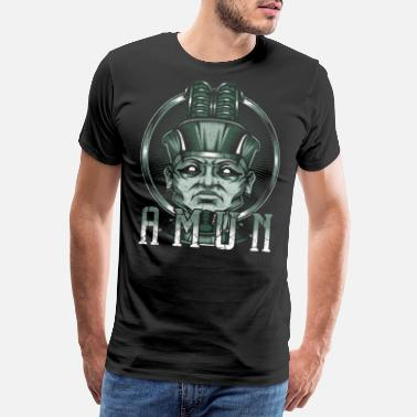 Egyptian God of the willow Amun Egyptian Egypt deity - Men's Premium T-Shirt
