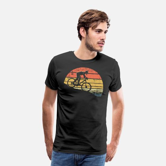 Retrol T-shirts - Downhill Cykel Mountain Bike DH Vintage - Premium T-shirt mænd sort