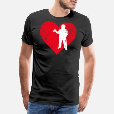 Beat A Heart For Firefighters - Strazak Shirt - Männer Premium T-Shirt
