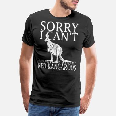 Freedom Of Speech Red Kangaroos Funny Tee Shirt - Men's Premium T-Shirt