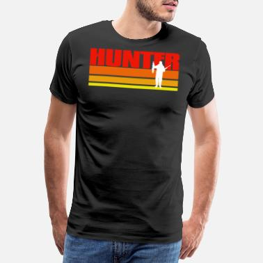 Stalker Retro Hunter Gift Idea - Men's Premium T-Shirt