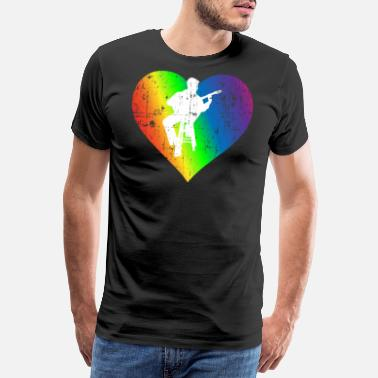 Amateur Hobby Pride Rainbow Heart - Men's Premium T-Shirt