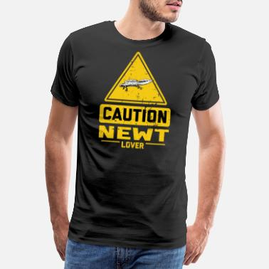 Caution CAUTION Newt Lover - Männer Premium T-Shirt