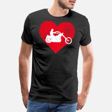 Caferacer A Heart For Bikers - Work Tee - Maglietta premium uomo