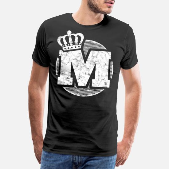 Stylish letter M with crown Men's Premium T-Shirt | Spreadshirt