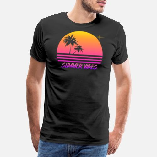 7ead3af25b4 Summer Vibes Retro Synth Sunset Style Shirt Men s Premium T-Shirt ...