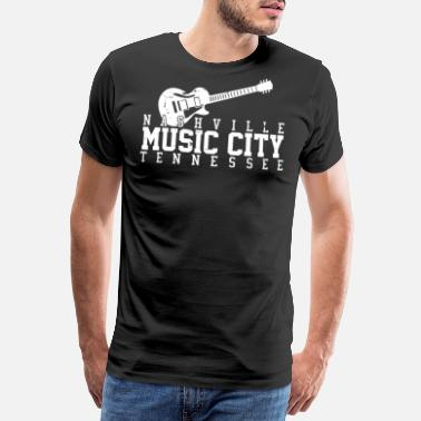Tennessee Nashville Tennessee - Country Music - Herre premium T-shirt