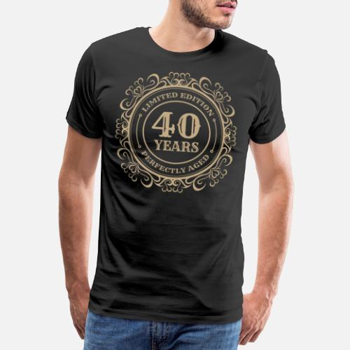 Mens Premium T Shirt40th Birthday Perfect Vintage 40 Years Gift