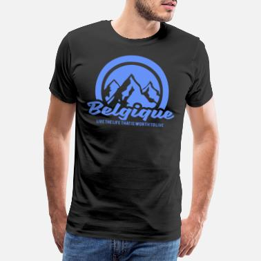 Belgium belgium nature mountains gift - Men's Premium T-Shirt