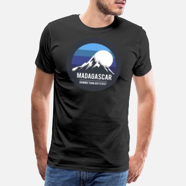 Fjell Madagaskar land - Premium T-skjorte for menn