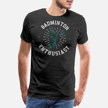 Smash badminton - Premium T-skjorte for menn
