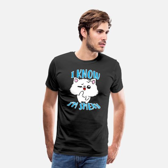 Sexy T-shirts - Chat sexy - T-shirt premium Homme noir