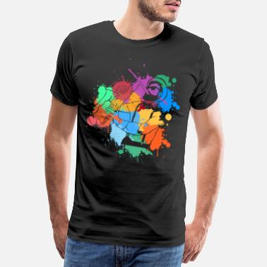 Spotte Saxofon jazz color spot player musikere gave - Herre premium T-shirt
