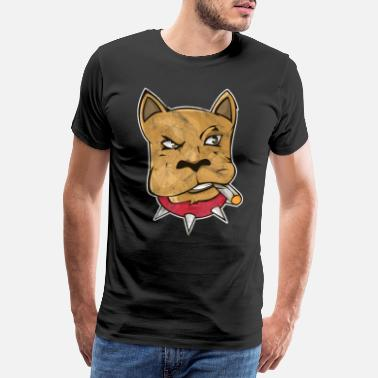 Stoner Rock Pothead Dog Bulldog Joint Marijuana Gift - Men's Premium T-Shirt