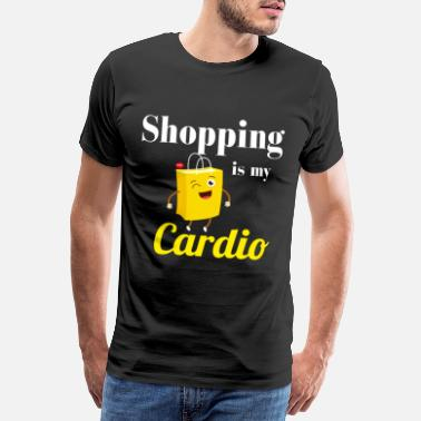 Cardiography shopping is my cardio - Men's Premium T-Shirt