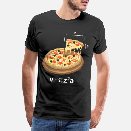 Pi Day Pizza Meme Math Math Teacher Geek Premium T skjorte
