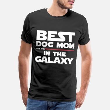 Science Fiction Beste hond mama - Mannen Premium T-shirt