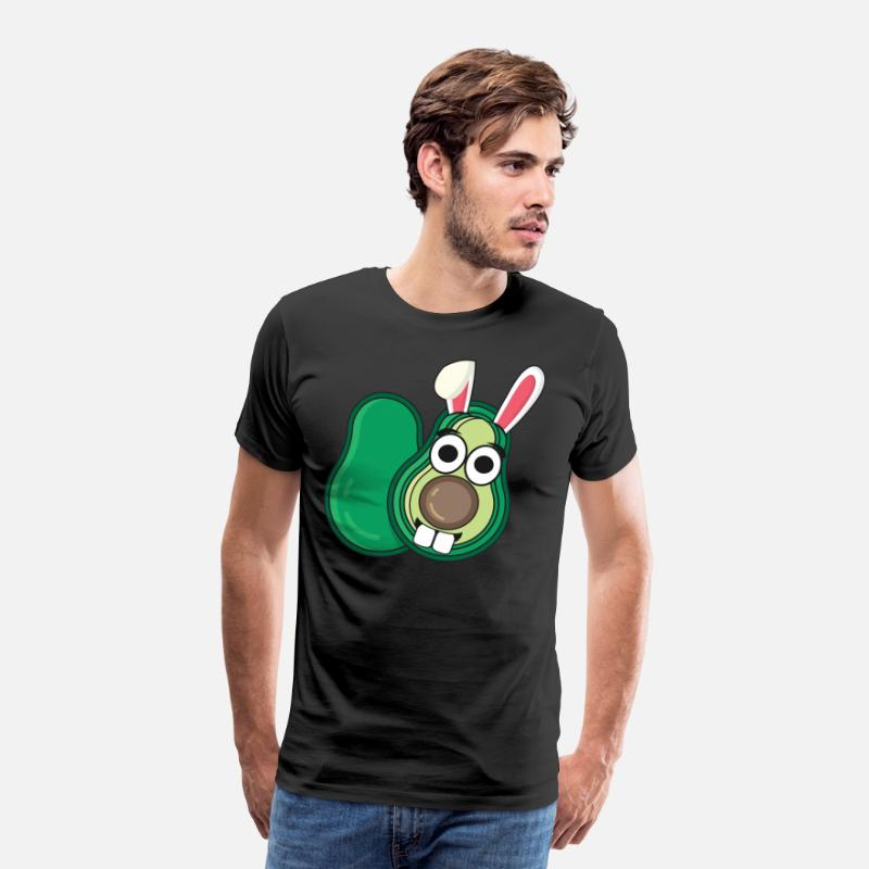 Easter T-Shirts - Avocado Easter bunny Easter gift bunny - Men's Premium T-Shirt black