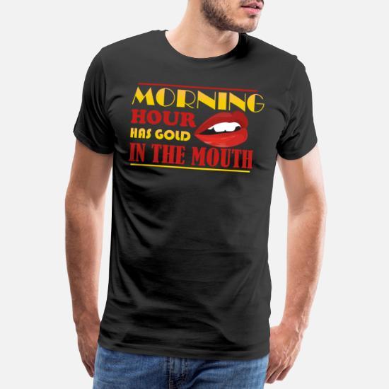 Morgenstund Hat Gold Im Mund Denglisch Lustig Männer Premium